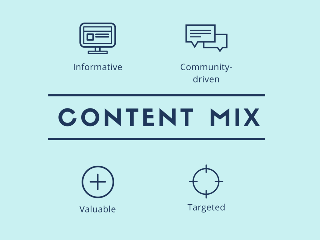 Consider your content mix